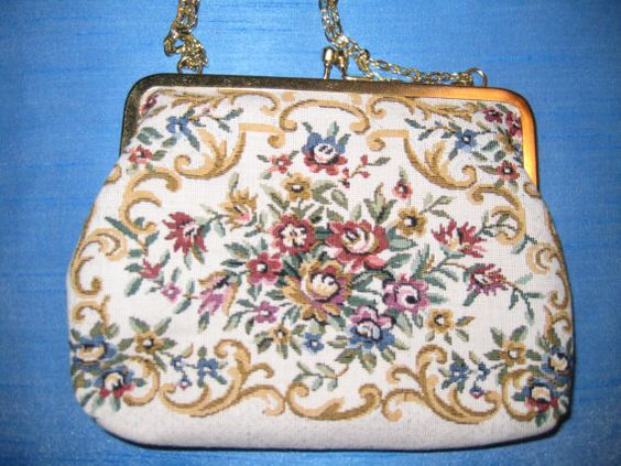 Sweet Needlepoint Bag by Fine Arts Bag Co.
