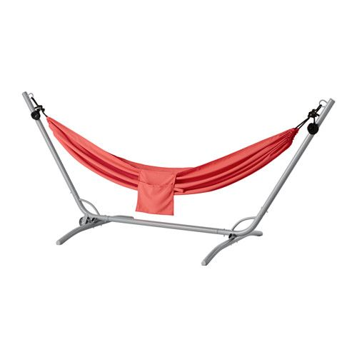 Marvelous IKEA G R RIS Hammock with stand red The hammock stand is easy to move since it has a wheel on one side Just tilt the stand and roll it u