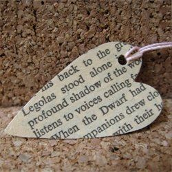 Use old book pages for jewelry, bookmarks, wreaths...