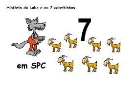 O lobo e os 7 cabritinhos - Cartões de Comunicação