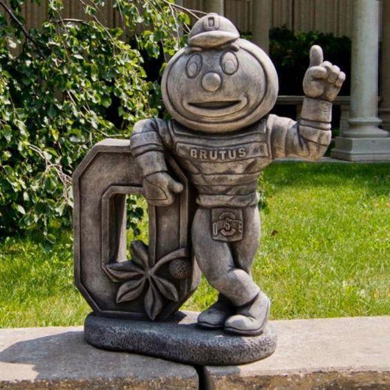 Ohio State Buckeyes Vintage Mascot Garden Statue