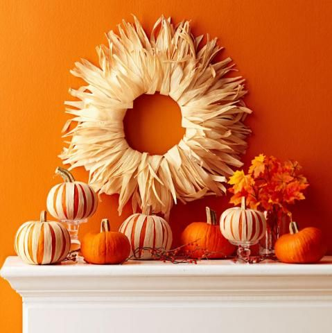 6 Easy Corn Husk Fall Decorations Mantels, Crafts and Shape