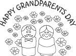 grandparents day coloring card