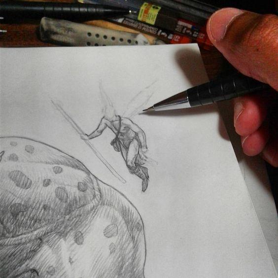 Deixando a mão fluir… 😊 #drawing #desenho #dibujo #study #sketchbook #pencil #worldofpencils #worldofartists #fantasia #fantasy #ilustração #illustration #minasgerais (em Igarapé)