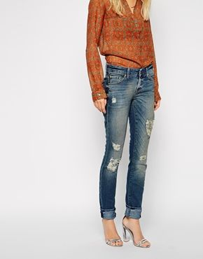 Enlarge 7 For All Mankind Cristen Distressed Skinny Jeans