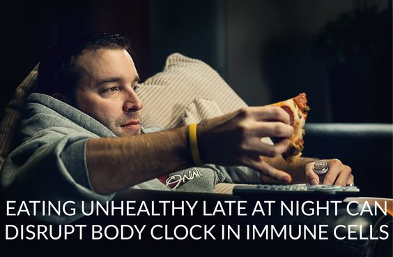 Researchers at Texas A&M have found unhealthy eating habits – especially late at night – can disrupt the body clock in immune cells and lead to the development of metabolic diseases like diabetes and obesity.