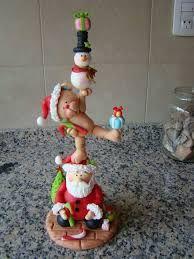 Resultado de imagen para manualidades de navidad en porcelana fria