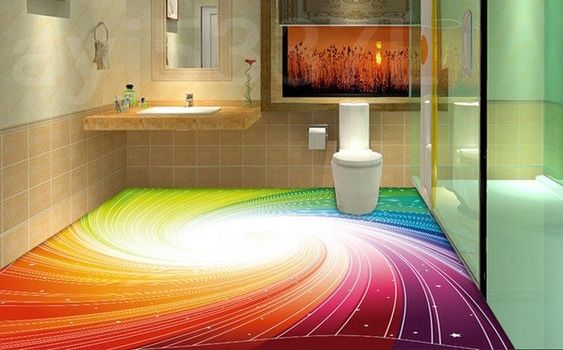 epoxy 3D floor painting ideas for 3D bathroom flooring Awesome collection of 3D floor murals, painting, design images with self-leveling 3D epoxy flooring for all rooms, 3D bathroom floor murals, and other designs for living rooms, bedrooms and kitchens