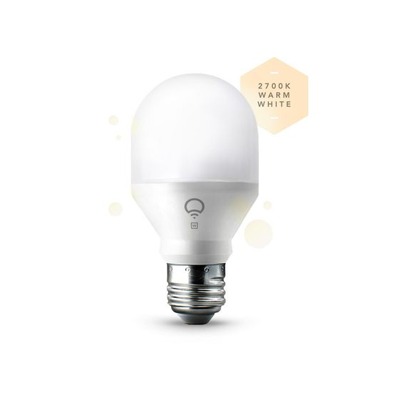 LIFX Mini White (A19) Wi-Fi Smart LED Light Bulb, Dimmable, Warm White, No Hub Required, Works with Alexa, Apple HomeKit and the Google Assistant - - Amazon.com