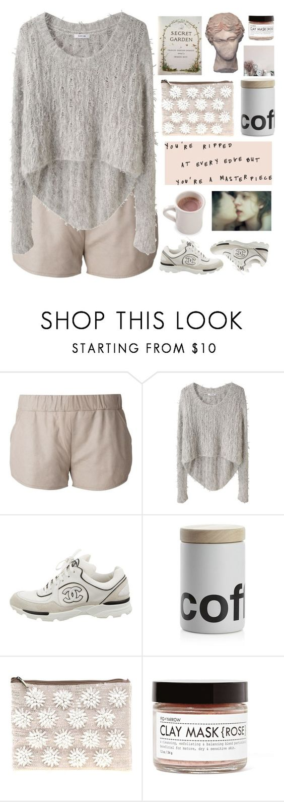 """""""Untitled #2460"""" by tacoxcat ❤ liked on Polyvore featuring Drome, Helmut Lang, Chanel, Crate and Barrel, ASOS and Fig+Yarrow"""