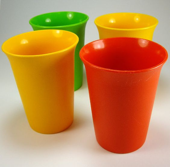 Vintage Tupperware Small Tumblers Beverage by myatticstreasures