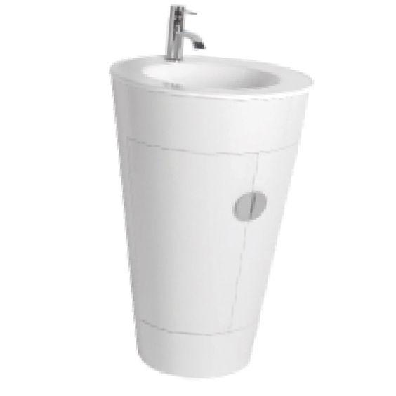 Floor Standing Vanity Storage Unit  amp  Round 1TH Basin White Gloss 540mm   Metro. Bathroom Floor Standing Vanity Unit  amp  Round 1 Tap Hole Basin White