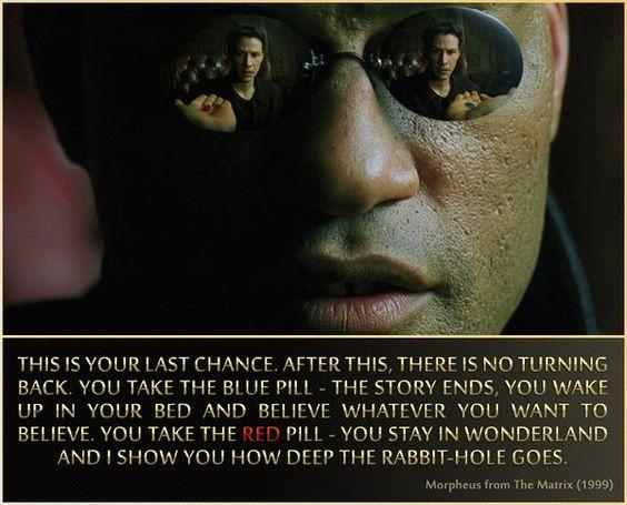 Matrix quotes red dress