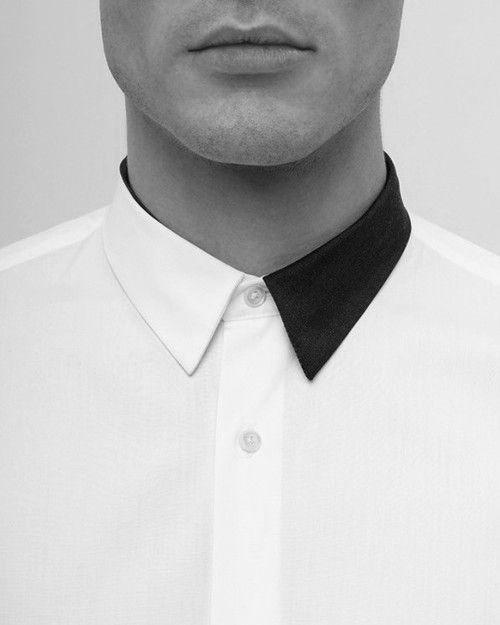 Monochrome shirt collar.