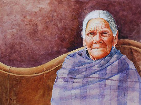 "Abuela by Sue Sill Watercolor ~ 22"" x 30"""