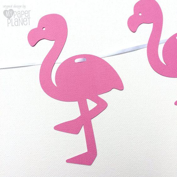 Bandera de flamingo rosa. Empavesado garland. por MyPaperPlanet