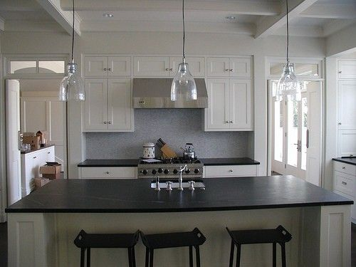 dream kitchen! Very white and clean! Not very kid friendly though...heh.