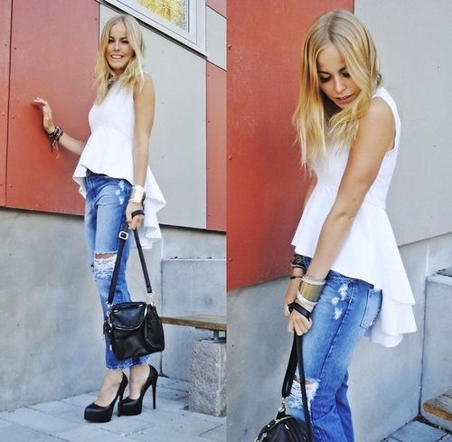 How to dress up ripped jeans | Street Style from Around the World