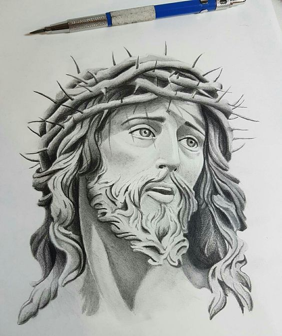 44 Sculpture Pencil Drawing Ideas Jesus Tattoo