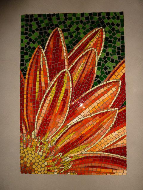Gerbera mosaic - love that!