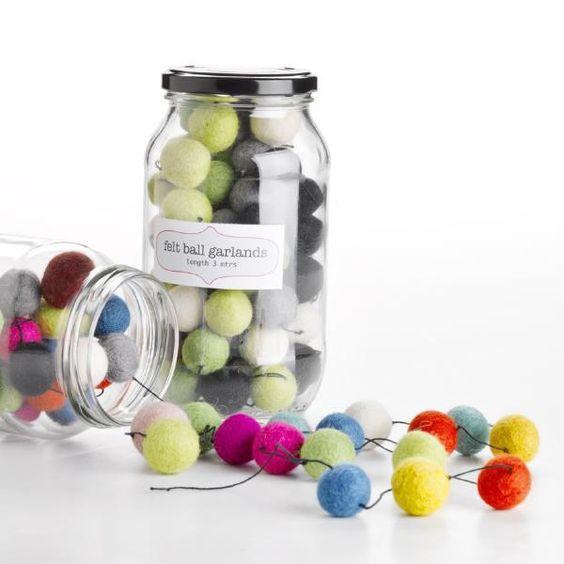 Felt ball garland - fun decoration (if a bit expensive!)