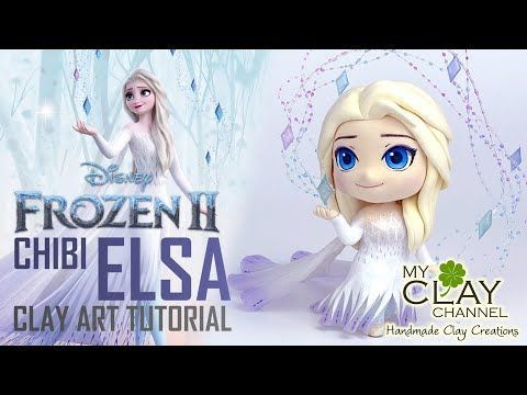 How To Make Chibi Elsa Show Yourself Frozen 2 Clay Art Tutorial Youtube Chibi Art Tutorials Clay Art