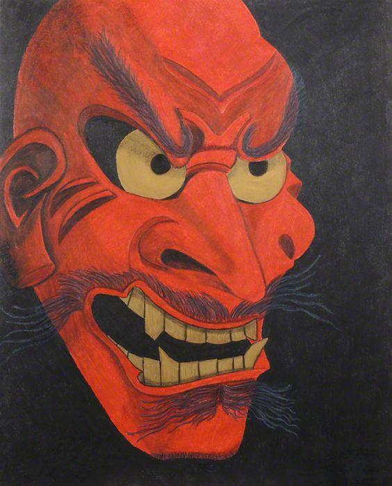 Shikami - Colored Pencil by Brina Beury #art #noh #mask