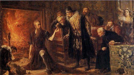 Alchemik Michał Sędziwój, óleo sobre tabla de Jan Matejko