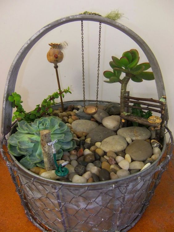 Pinterest the world s catalog of ideas for Fairy garden box ideas