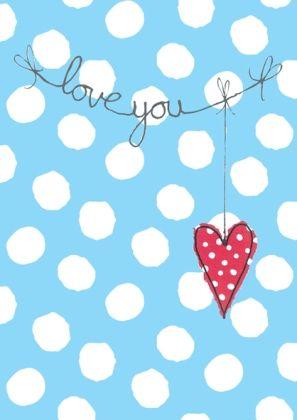hanging heart: