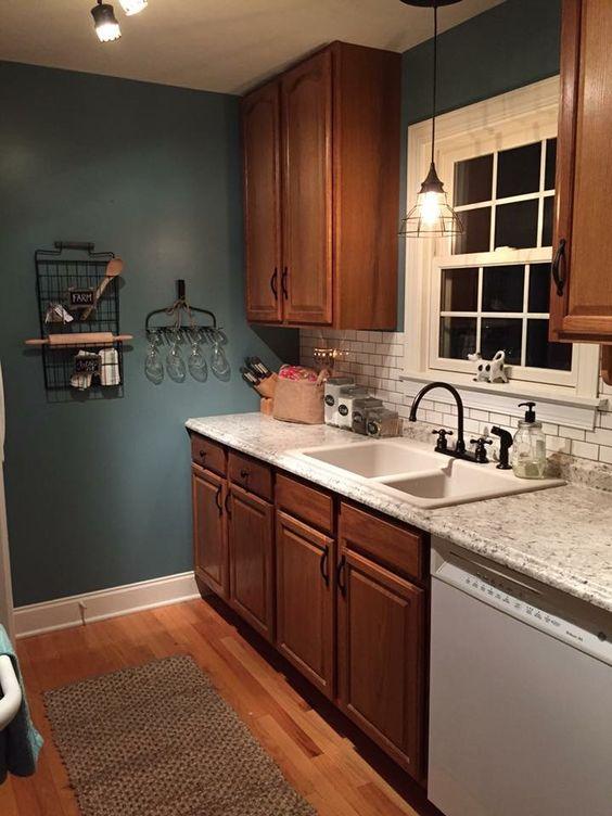 Kitchen Remodel Lowes Valspar La Fonda Blue Ouro Romano Countertop