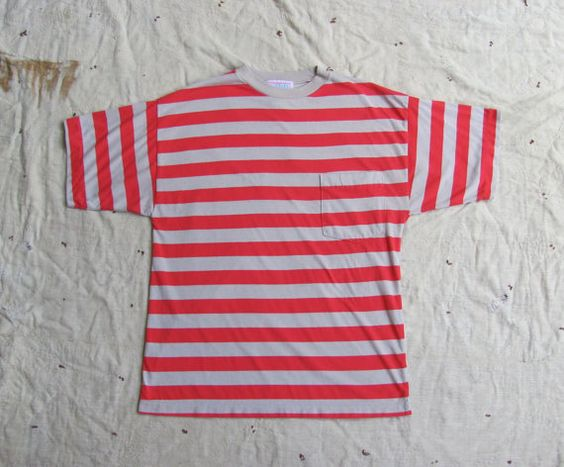 vintage 1980s oversized pocket tshirt