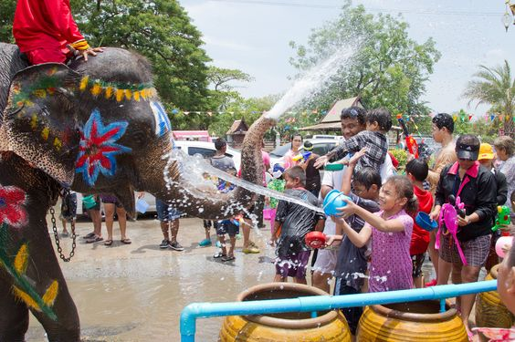 The #Songkran in #Thailand, #festa of the water and #capodanno of the lunisolar calendar #buddhista