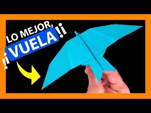 Como Hacer Un Avion De Papel Pájaro Que Vuele Mucho Y Sea Fácil Bien Explicado Youtube Paper Plane Origami Art For Kids