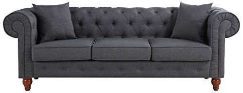 Volans Sectional Sofa Mid Century Modern Leather Upholstered Square Modular Sectional Sofa Couch with Two Removable Non-Slip Pillows Living Room Sofa Set Congac(1 PCS)