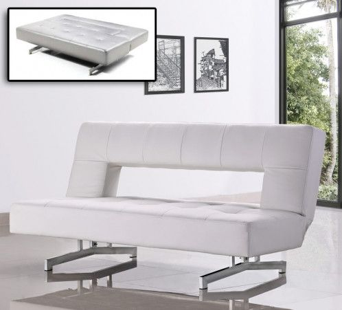 Wilshire Fold Out Leatherette Sofa Bed Leather Sofa Bed Leather