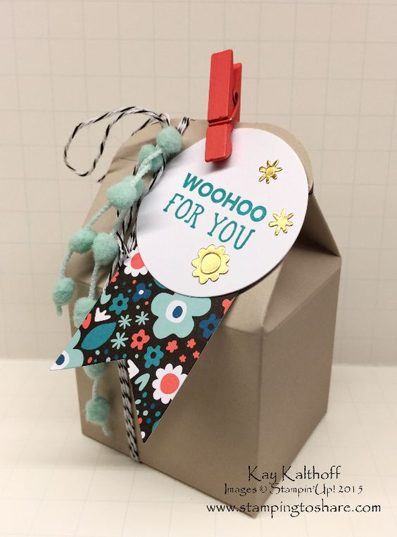 Quick and Easy Party Favor with All Boxed Up plus the How To Video, #stampingtoshare, Kay Kalthoff, Stampin' Up! Kits