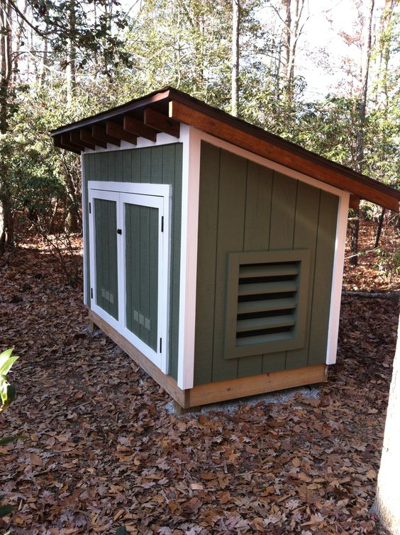 Custom Generator Shed Outdoor Structures Pinterest