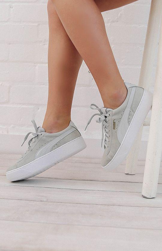 Puma Vikky Platform Sneaker - Gray