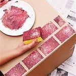 DIY Faux Brick; use larger sponge w/ grey paint for a castle wall look.