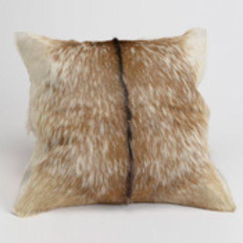 amadeus coussin fourrure cuir de chvre 40x40cm sauvage marron pas cher achat vente - Coussin Color Pas Cher