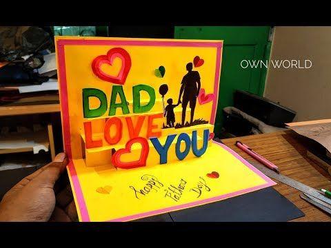 Beautiful Birthday Greeting Card Idea Diy Birthday Pop Up Card Father S Day Card Youtub Dad Birthday Card Diy Birthday Cards For Dad Father Birthday Cards