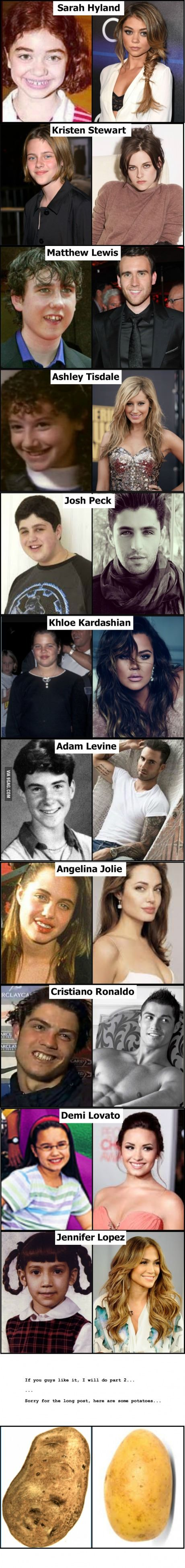Celebrities then and now...: