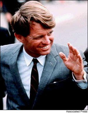 """Robert F. Kennedy.  """"Let no one be discouraged by the belief there is nothing one person can do against the enormous array of the world's ills, misery, ignorance, and violence. Few will have the greatness to bend history, but each of us can work to change a small portion of events. And in the total of all those acts will be written the history of a generation."""""""