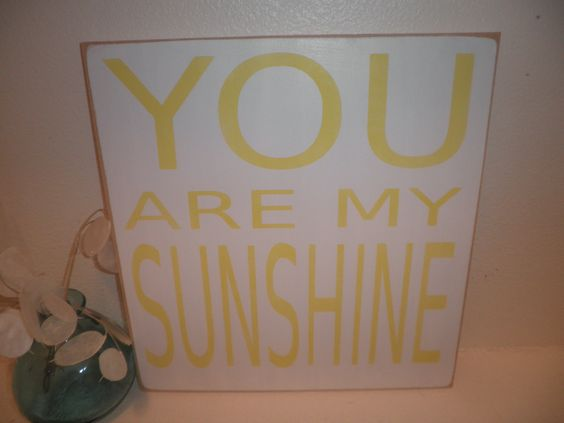 You are my Sunshine wood sign wall hanging plaque CUSTOM COLORS. $24.00, via Etsy.