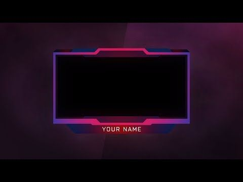 A Free Twitch Youtube Live Stream Face Cam Overlay Template Psd By Beast Designs Customize The Colors And Loo Free Overlays Youtube Banner Template Overlays