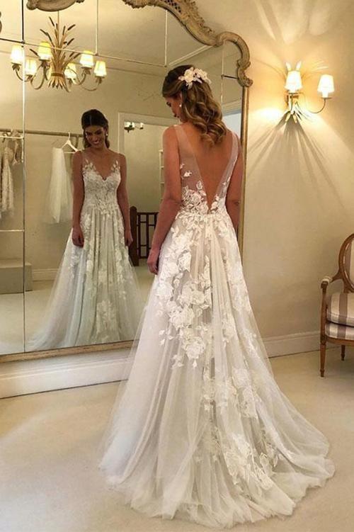 Boho Wedding Dress Wedding Dresses Cheap Simple Wedding Dresses Okdresses Backless Wedding Dress Wedding Dresses Backless Wedding