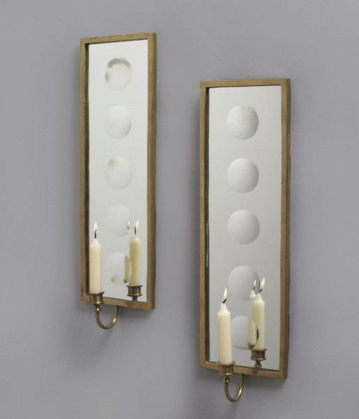 OnlineGalleries.com - A Pair of Mirrored Wall Lights