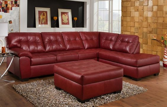 Soho Cardinal Sectional - Leather - Sectionals - Living