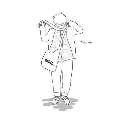 Instagramにてイラストオーダー受付中 Mhl Fashion イラスト Illustration メンズ ファッション シンプル お絵描き屋さん Yuribo 似顔絵 イラスト かわいい イラスト 手書き イラスト 線画